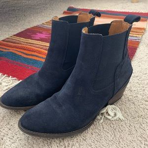 Hunter Blue Suede Boots
